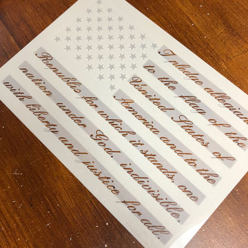 Pledge of Allegiance Flag Cake/Craft Stencil