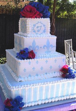 Fleur de Lis Cake Stencil - 4 sizes
