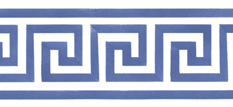 Greek Key and Lattice Wall Stencils