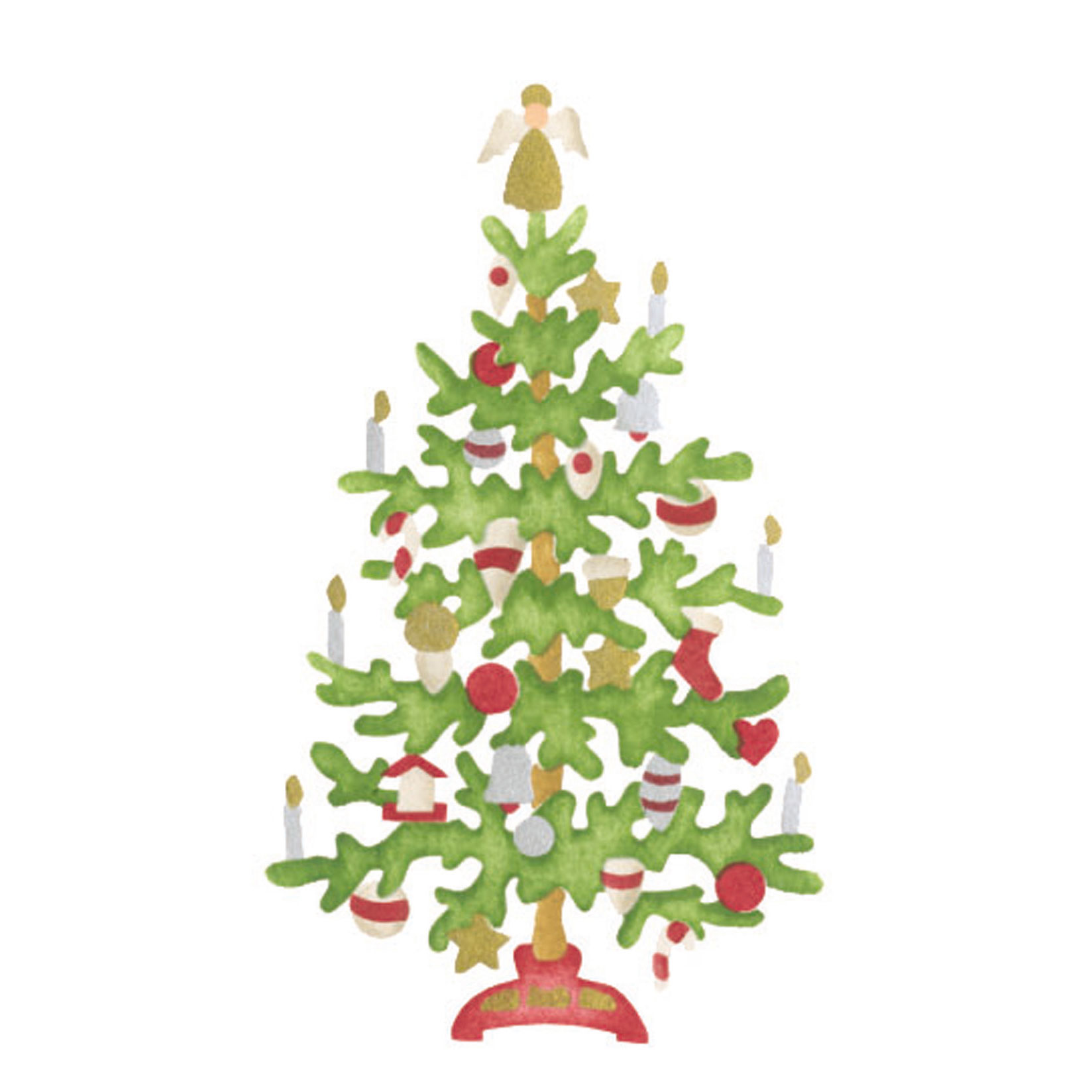 Small Christmas Tree Wall Stencil Sku 3373a Designer Stencils