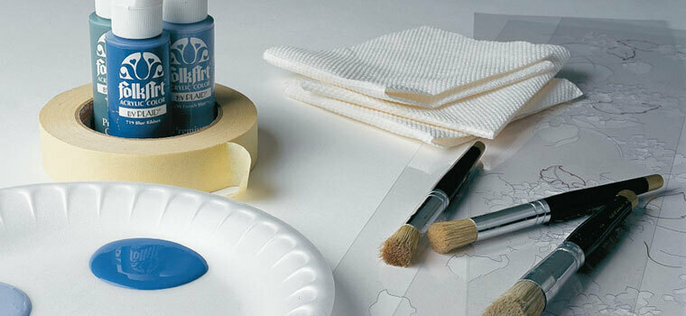 PAINTS AND STENCILING SUPPLIES