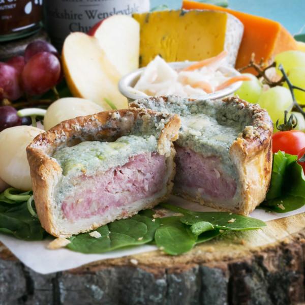 Pork And Stilton Cheese Open Top Pie