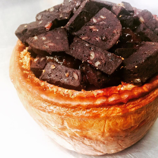 Large Open Topped Pork Pie With Black Pudding
