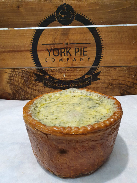 1 Lb (Approx)Free Range Pork Pie Topped With Clawson Blue Stilton Cheese