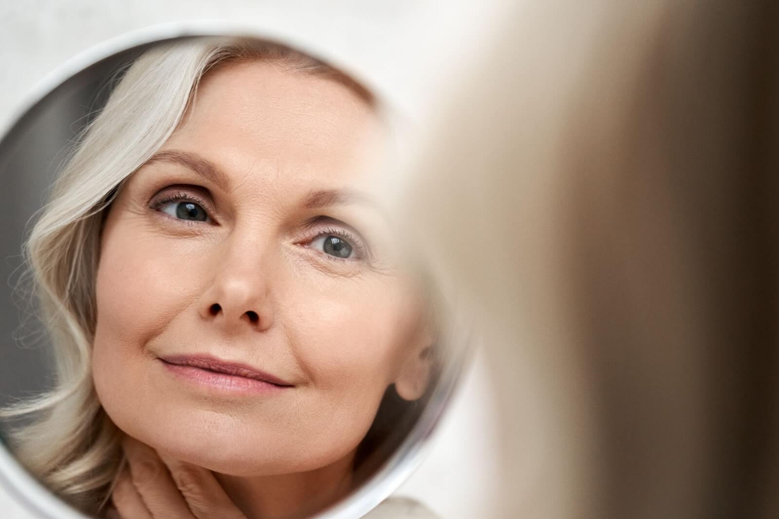 Older woman with a great anti-aging regimen