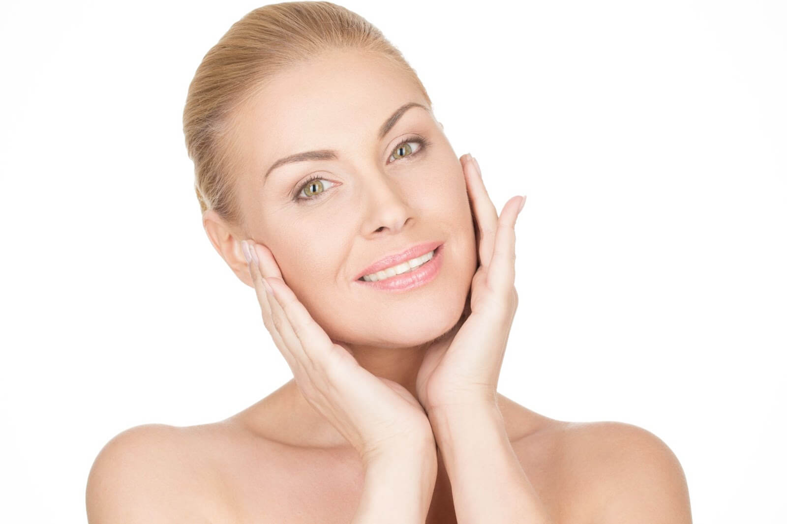 Woman with a powerful anti-aging skin care routine