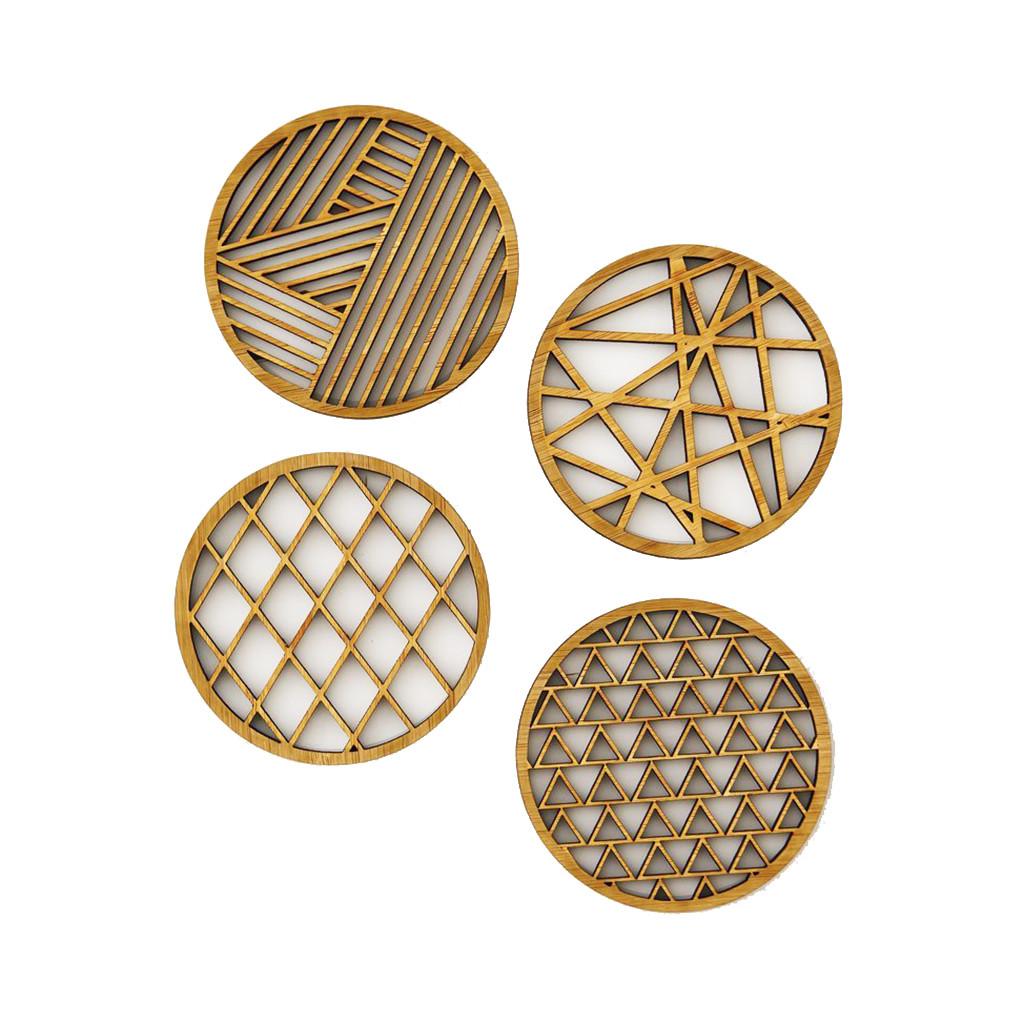 Geometric Bamboo Coasters