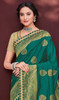 Shaded Green Color Banarasi Silk Sari