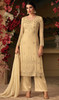 Beige Color Georgette Embroidered Palazzo Suit