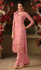 Embroidered Pink Color  Georgette Palazzo Dress