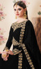 Black Color Georgette Embroidered Anarkali Dress