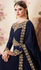Blue Color Georgette Embroidered Anarkali Suit