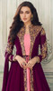 Pink and Purple Color Georgette Embroidered Suit