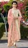 Cream Color Satin Georgette Embroidered Dress