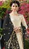 Designer Wear in Cream Color Shaded Satin Georgette