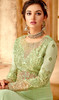 Light Green  Color Georgette Embroidered Anarkali Suit