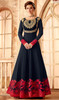 Navy Blue Color Shaded Georgette Anarkali Dress