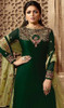 Green Color Satin Silk Georgette Style Suit