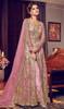 Pink Color Designer Suit In Embroidered Net