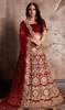 Lehenga Choli, Velvet Silk Fabric in Maroon Color