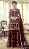 Maroon Color Net Embroidered Palazzo Dress