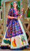 Off White Color Shaded Cotton Lehenga Cholie