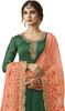 Green Color Embroidered Resham  Georgette Anarkali Suit