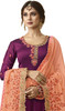 Anarkali Suit in Wine Color Embroidered Georgette