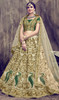 Choli Skirt in Green Color Embroidered Silk