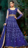 Royal Blue Color Georgette Embroidered Anarkali Dress