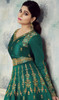Shamita Shetty Green Color Silk Anarkali Dress