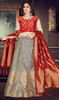 Embroidered Silk Gray Color Lehenga Choli
