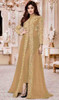 Shamita Shetty Beige Color Embroidered Georgette Suit