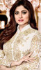 Shamita Shetty White Color Georgette Suit