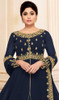 Navy Blue  Shamita Shetty Color Georgette Anarkali Suit