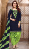 Navy Blue Color Shaded Cotton Satin Patiala Dress