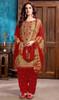 Beige Color Embroidered Cotton Satin Punjabi Suit
