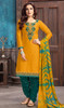 Mustard Color Shaded Cotton Satin Patiala Dress