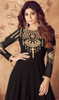 Georgette Anarkali Black Color Embroidered  Suit