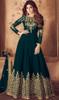 Georgette Green Color Embroidered Anarkali Suit
