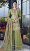 Embroidered Green Color Silk Palazzo Suit