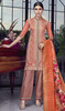 Orange Color Embroidered Silk Palazzo Suit