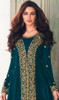 Teal Green Color Shaded Georgette Embroidered Suit