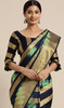 Black and Green Color Shaded Banarasi Silk Sari