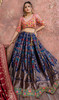 Lehenga Choli in Navy Blue Color Embroidered Silk