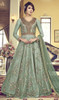 Embroidered Green Color Net Anarkali Dress