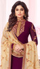 Shamita Shetty Purple  Color Georgette Churidar Suit