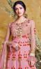 Embroidered Net Pink Color Anarkali Suit
