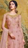 Anarkali Suit in Pink Color Embroidered Net