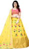 Yellow Color Shaded Silk Choli Skirt